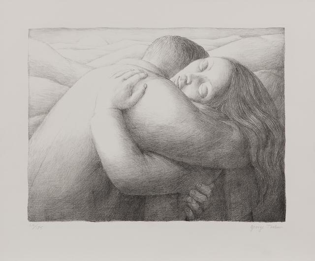 George Tooker, 'The Lovers, alternatively titled Embrace', 1982, Skinner