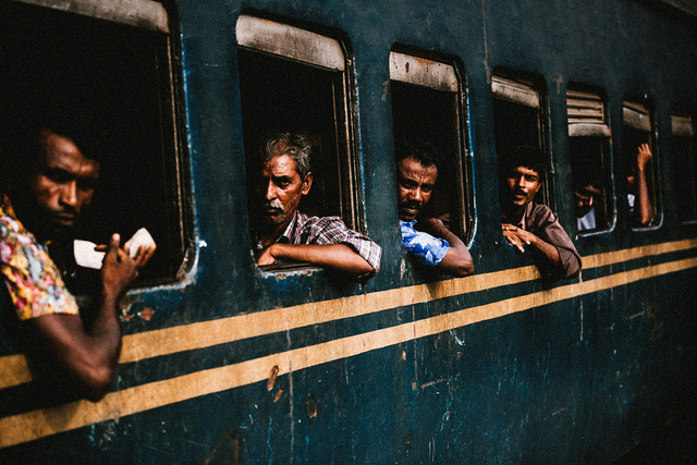 Justin Mott, 'A view of the crowded train station in Ishwardi, Bangladesh. This past March, a violent protest occurred at the Ishwardi EPZ.', Anastasia Photo