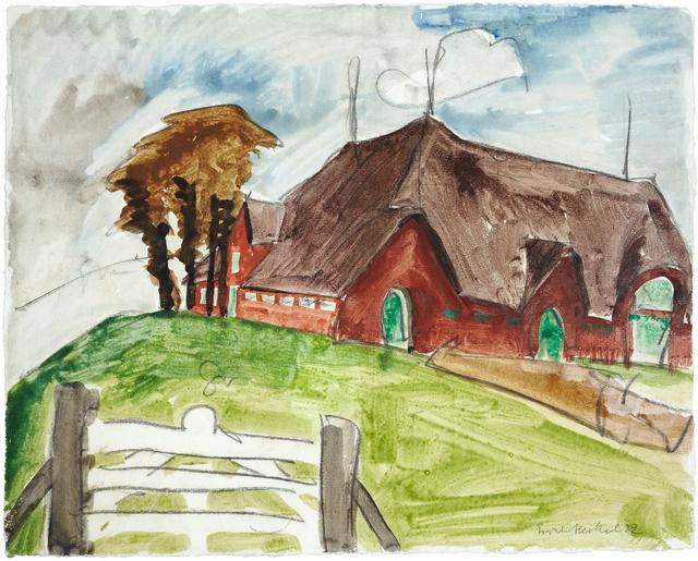 , 'Das rote Haus,' 1922, Ludorff