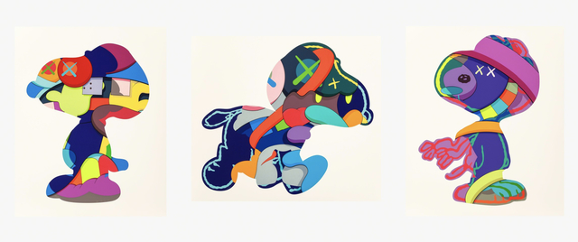 KAWS, 'NO ONE'S HOME, STAY STEADY, THE THINGS THAT COMFORT, Set of 3 Works', 2015, Print, Screenprint on Paper, West Chelsea Contemporary