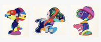 KAWS, NO ONE'S HOME, STAY STEADY, THE THINGS THAT COMFORT, Set of 3 Works