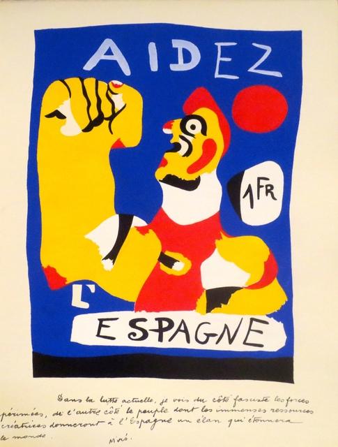 Joan Miró, 'Aidez L'Espagne', 1937, Isselbacher Gallery