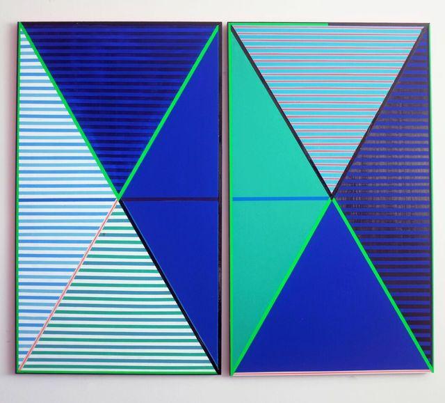 , 'Stripe Diptych 2,' 2017, Freight + Volume