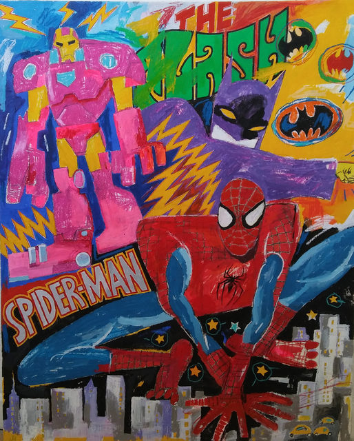 , 'Superheroes in Action,' , Gallery Different