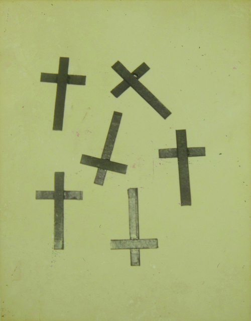 Andy Warhol, 'Crosses', anni 1980, Photography, Polaroid applied on cardboard, Finarte