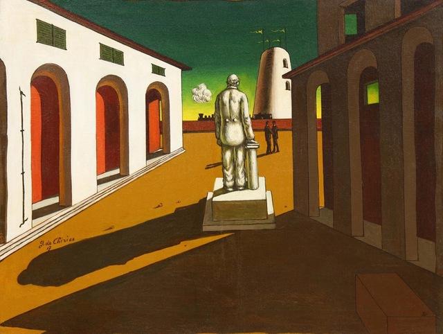 , 'Piazza d'Italia (con monumento ad un uomo politico),' ca. 1945, Dellupi Arte