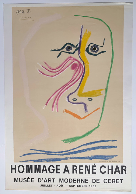 Pablo Picasso, 'PIcasso, Hommage A Rene Char Musee D/Art Moderne de Cheret', 1969, David Lawrence Gallery