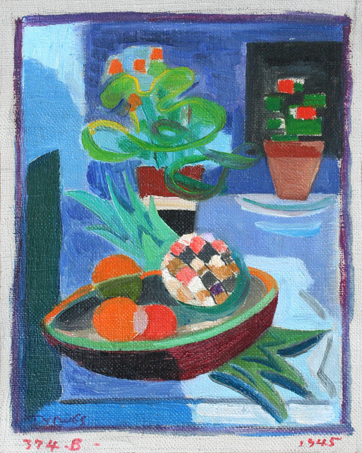 Werner Drewes, 'Flower Pots and Pineapple', 1945, Richard Norton Gallery