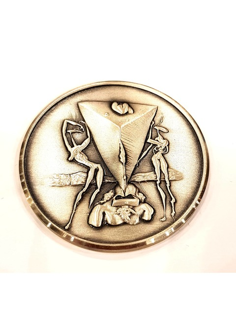 "Salvador Dalí, 'Silver Medal ""Crushed Philosopher"" by Salvador Dali', 1979, Galerie Philia"