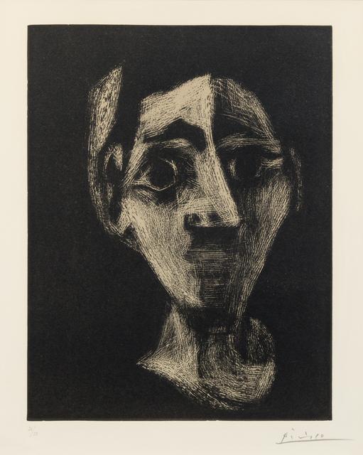 Pablo Picasso, 'Visage (Jacqueline au bandeau)', 1962, Hindman