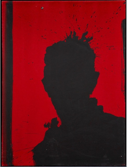 , 'Shadow Head with Red Background ,' 1992, Maddox Gallery