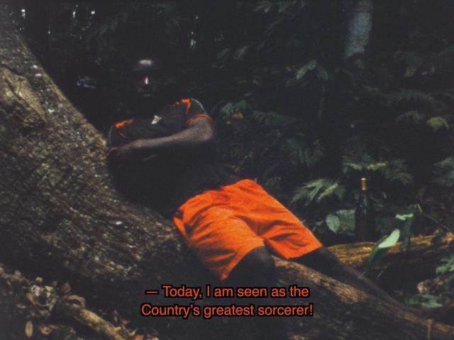 Musa paradisiaca, 'Cena de caça [Hunting scene]', 2013, Video/Film/Animation, With Caustrino Alcântara 16mm film transferred to HD, 4:3, color, sound, 7'50'', Quadrado Azul