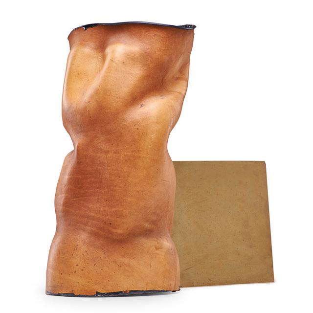 Simon Hasan, 'Vase, USA', 2010, Design/Decorative Art, Boiled leather, PU resin, brass, Rago/Wright