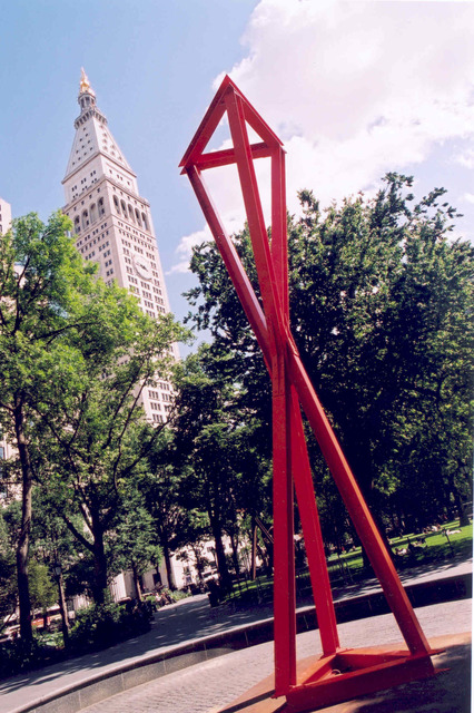 , 'Double Tetrahedron,' 2004, Madison Square Park