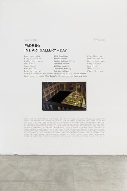 , 'Museen Ze Berlin Matte Painting (replica),' 1966, Swiss Institute