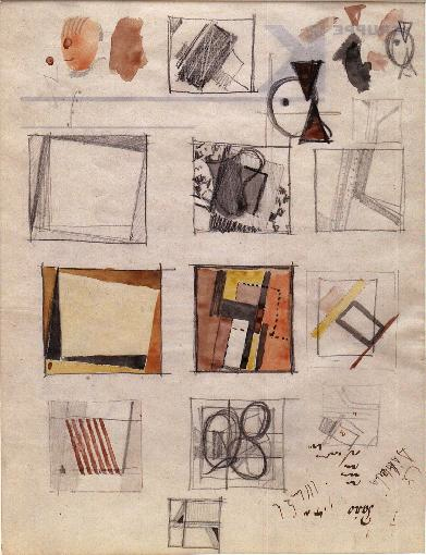 , 'Studies for Compositions (D40),' late 1920s, Annely Juda Fine Art