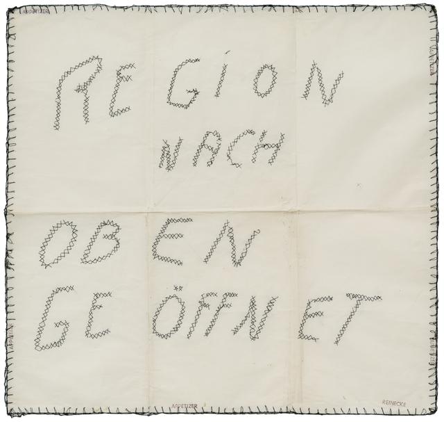 , 'Region nach oben geöffnet,' 1969, Beck & Eggeling