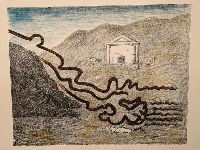 Giorgio de Chirico, ' Il fiume misterioso', 1969, Print, Lithograph in 4 colors, Galerie AM PARK