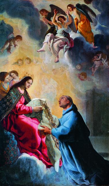 , 'Der Heilige Ildefons empfängt von Maria die Kasel,' 17th C., Gemäldegalerie Alte Meister