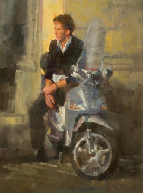 , 'Man Sitting on Scooter,' 2016, Abend Gallery