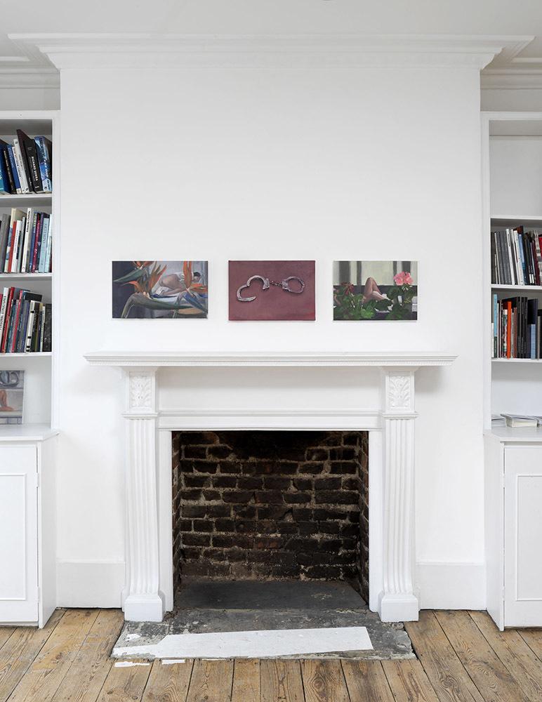 'Dark Smoke' installation view, works by Ioana Iacob