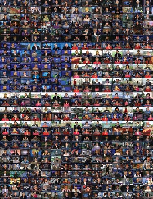 , 'CNN Concatenated [CNN-Enchaînement],' 2012, Jeu de Paume