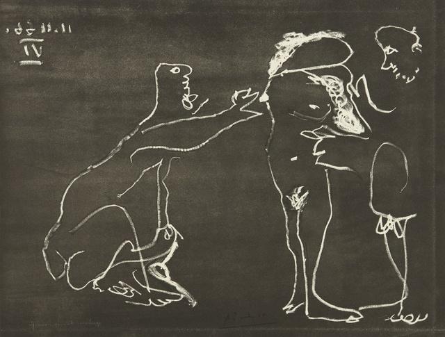 Pablo Picasso, 'Femme nue se cachant le visage, avec deux hommes (B. 1412; Ba. 1427)', 1966, Print, Aquatint, Sotheby's
