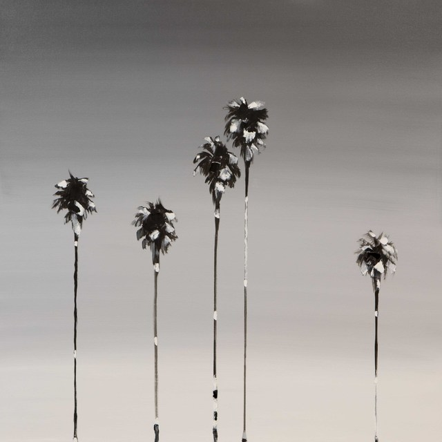 , 'Black & White 5 Palms,' 2017, Caldwell Snyder Gallery