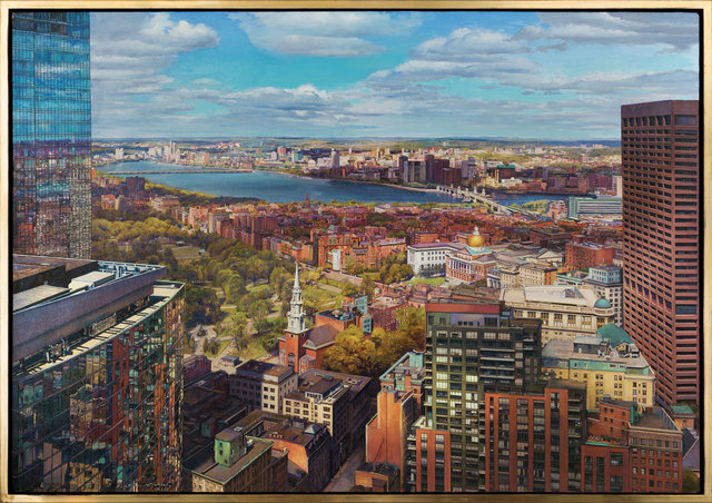 Joel Babb, 'Church and State, Boston from the Harvard Club ', 2018, Vose Galleries