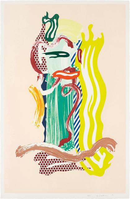 Roy Lichtenstein, 'Portrait, from Brushstroke Figure Series', 1989, Phillips