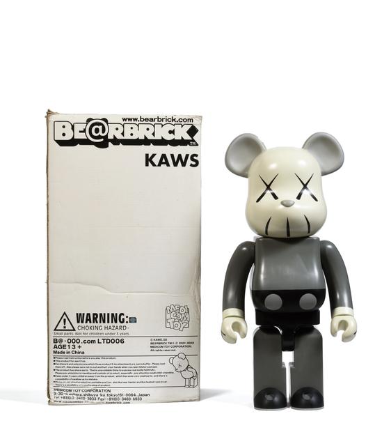 KAWS, 'Bearbrick 1000% (Grey)', 2002, Digard Auction