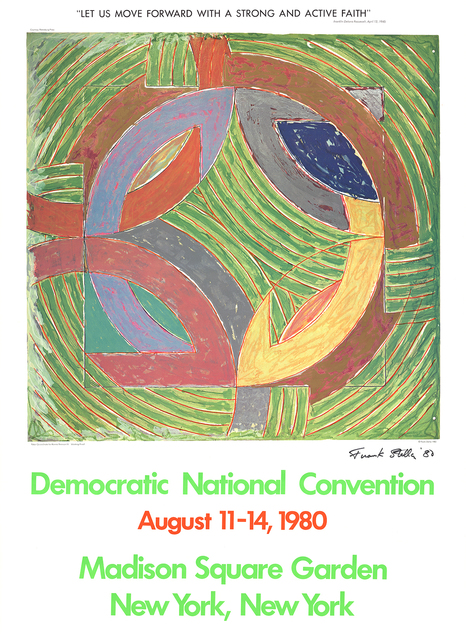 Frank Stella, 'Democratic National Convention', 1980, Print, Offset Lithograph, ArtWise