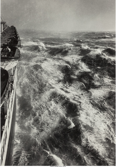 Alfred Eisenstaedt, 'Hurricane in the Atlantic, S.S. Queen Elizabeth starboard', 1948, Heritage Auctions