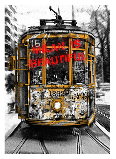 , 'Milan is Beautiful - Tram Red,' 2019, Deodato Arte