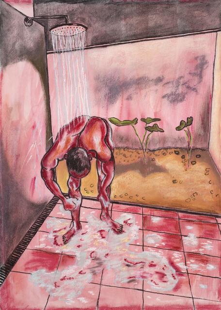 , 'Man In Shower Somewhere Hot ,' 2019, Cob