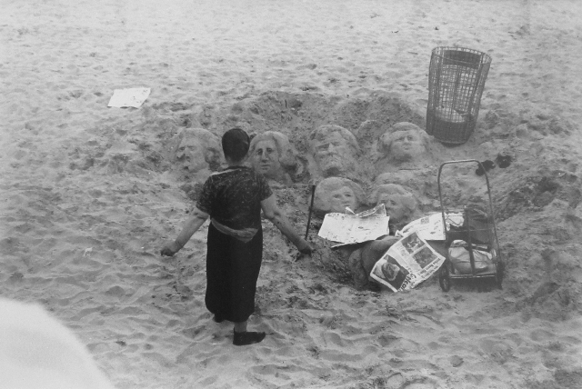 , 'Woman and Sand Carvings, Brooklyn,' 1965, PDNB Gallery