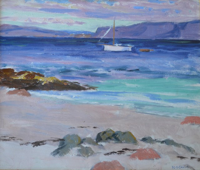 , 'Mull from Iona with Boat Offshore,' ca. 1925, The Scottish Gallery
