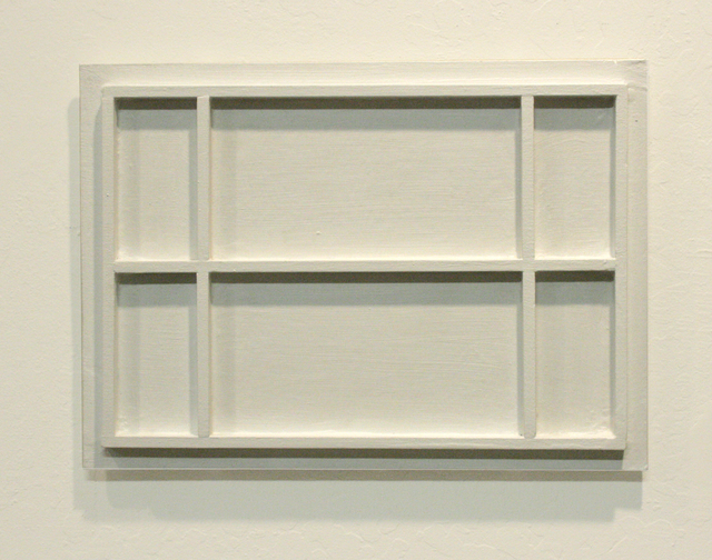 , 'Untitled ( white painting with frame work),' 2008, Anglim Gilbert Gallery