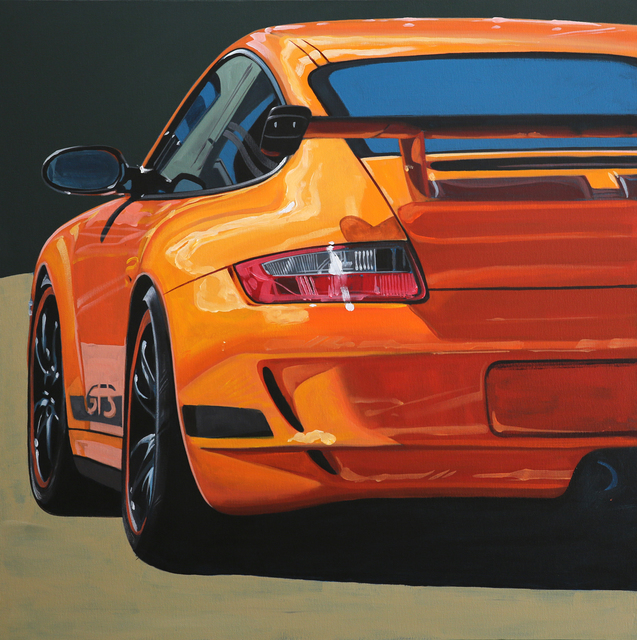 Manu Campa, 'Orange GT3', 2019, Painting, Acrylic & oil on canvas, JPS Art Gallery