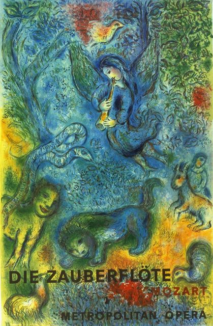 Marc Chagall, 'The Magic Flute (Die Zauberflote)', 1973, Posters, Offset Lithograph, ArtWise