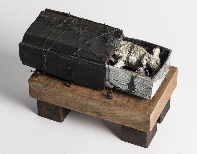 Elizabeth Jordan, 'Mouse in box, earth tone sculpture: 'Prophecy'', 2012, Ivy Brown Gallery