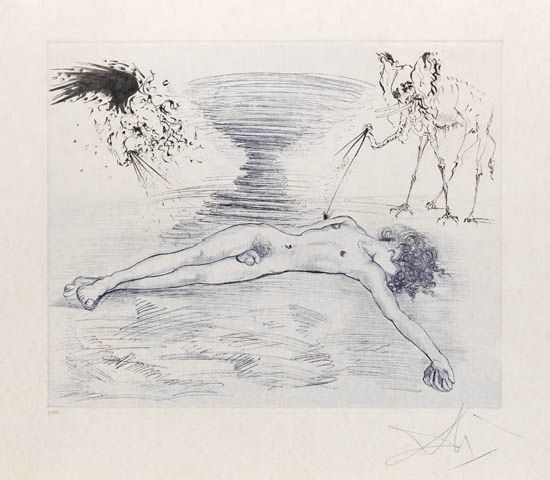 Salvador Dalí, 'Hypnos', 1965, Print, Drypoint and aquatint etching on Japon paper., Galerie d'Orsay