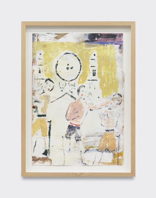 , 'Cocks and clocks (study),' 2019, V1 Gallery