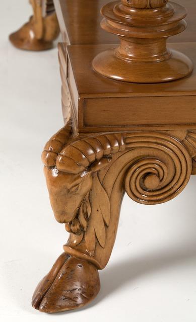 T.H. Robsjohn-Gibbings, 'Rare Coffee Table', ca. 1938, Design/Decorative Art, Carved acacia wood, original glass top, Maison Gerard