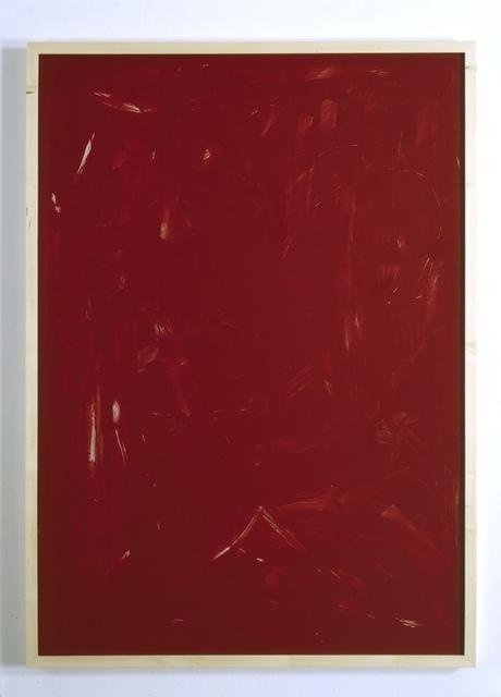 , 'Rote Acrylglaszeichnung Nr 07,' 1990, Galerie Thaddaeus Ropac