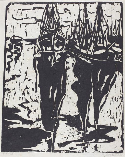 Ernst Ludwig Kirchner, 'Port Scene (Hafenbild)', 1908, National Gallery of Art, Washington, D.C.