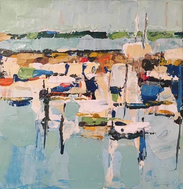 , 'Boats,' ca. 2018, Copley Society of Art