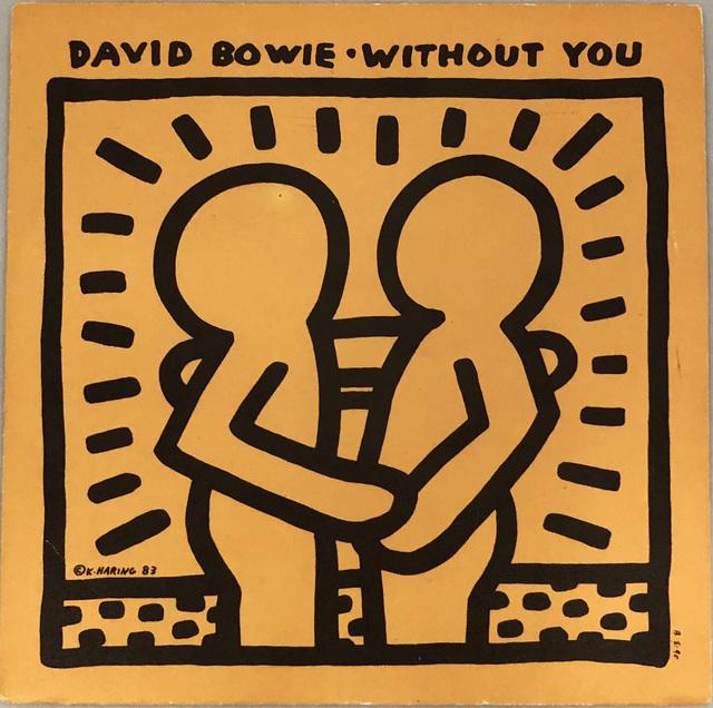 Keith Haring, 'Rare Original Keith Haring Vinyl Record Art (David Bowie)', 1983, Lot 180