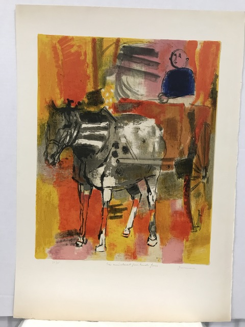 Paul Guiramand | Horse and carriage (ca  1959) | Available for Sale | Artsy