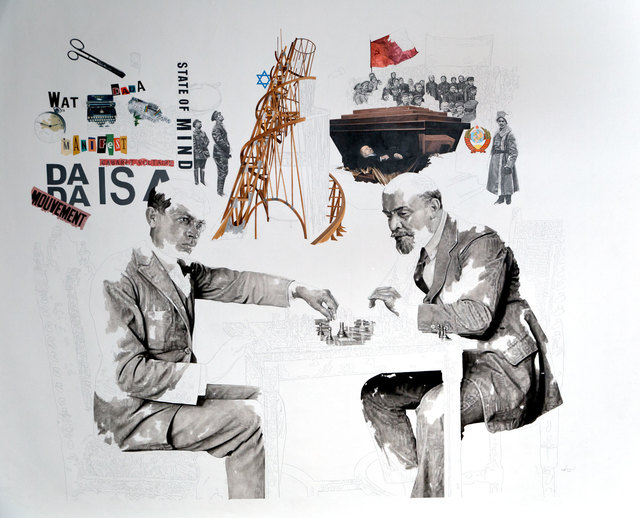 , 'Tzara & Lenin Playing Chess,' 2016, Nasui Collection & Gallery